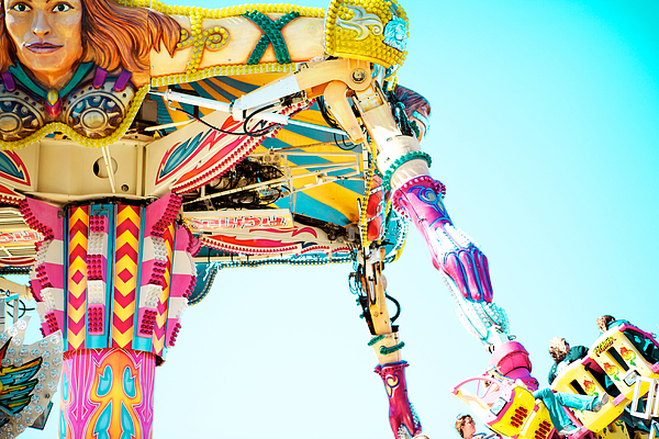 Carnival Ride Photograph - The Fighter by Kim Fearheiley