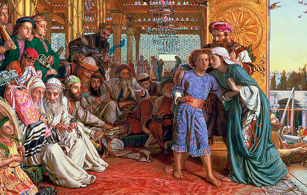 Whom Ye Seek Painting - The Finding Of The Savior In The Temple by William Holman Hunt