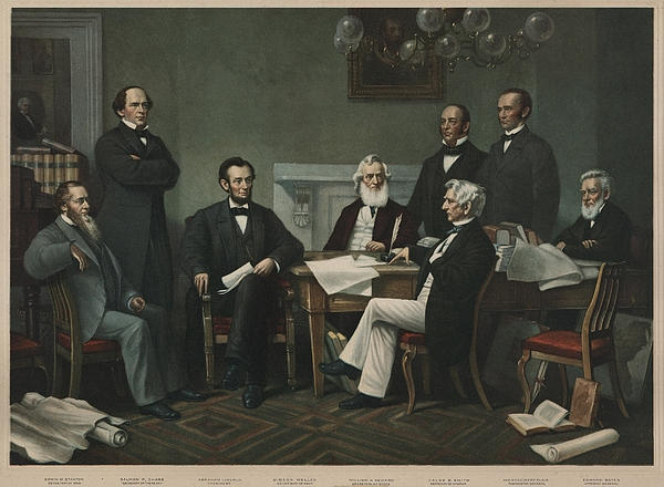 History Photograph - The First Reading Of The Emancipation by Everett