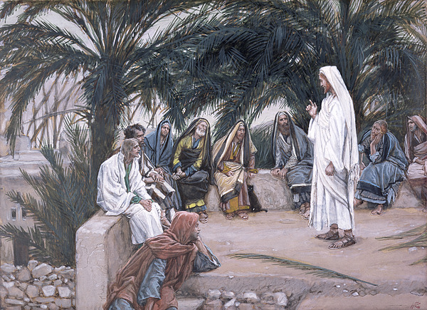 The Painting - The First Shall Be The Last by Tissot
