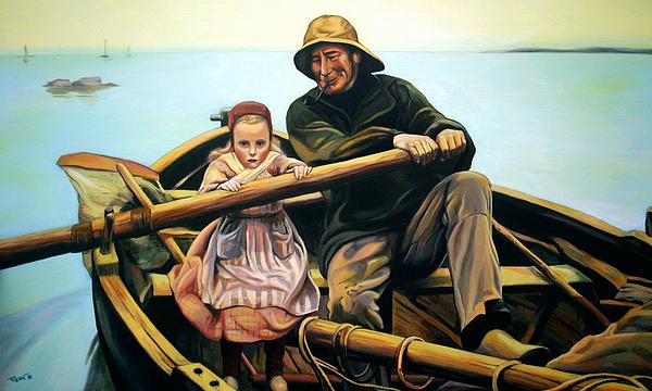 Boat Painting - The Fisherman by Jose Roldan Rendon
