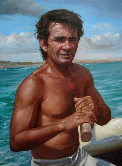 The Fisherman Painting by Paulo Frade