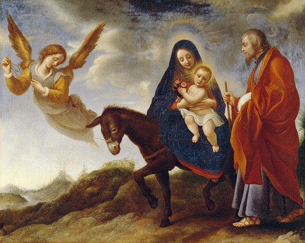 Flight Painting - The Flight Into Egypt by Carlo Dolci