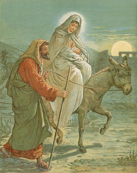 John Lawson Painting - The Flight Into Egypt by John Lawson