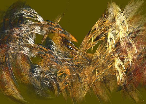 Abstract Painting - The Flight Of The Bird by Emma Alvarez