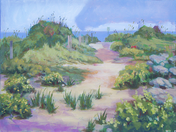 Beach Painting - The Flip-flop Path To Paradise by Carol Strickland