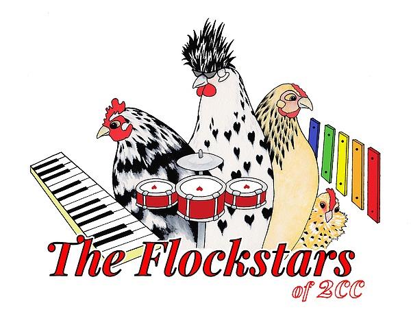 Rosedahl Digital Art - The Flockstars by Sarah Rosedahl