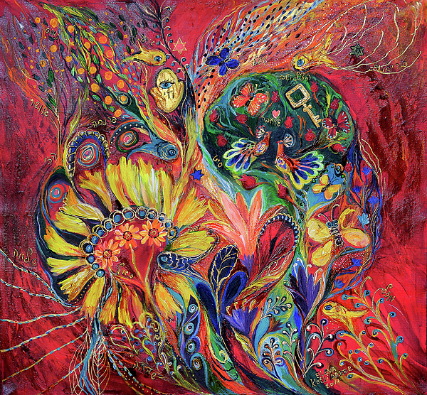 Original Painting - The Flowering by Elena Kotliarker