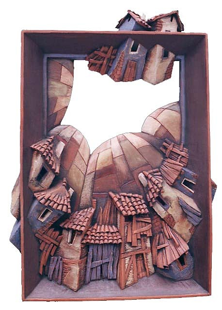 Ceramic Ceramic Art - The Flying Houses 2 by Yavor Gonev
