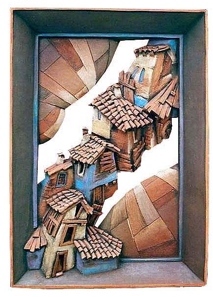 Ceramic Ceramic Art - The Flying  Houses by Yavor Gonev