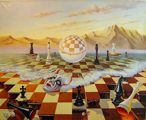 The Fools Rule The World Painting by Gyuri Lohmuller