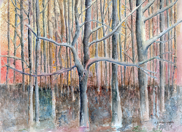 Forest Painting - The Forest For The Trees by Arline Wagner