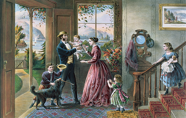 New York Painting - The Four Seasons Of Life  Middle Age by Currier and Ives