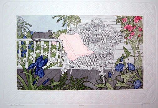 Front Porch Painting - The Front Porch by Judith Hall