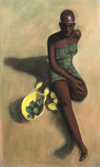 L Cooper Pastel - The Fruit Seller by L Cooper