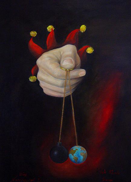 Klick Painting - The Game Of Fools 1  Klick Klack Boom by Silvia Pecha