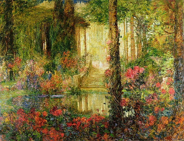 The Painting - The Garden Of Enchantment by Thomas Edwin Mostyn