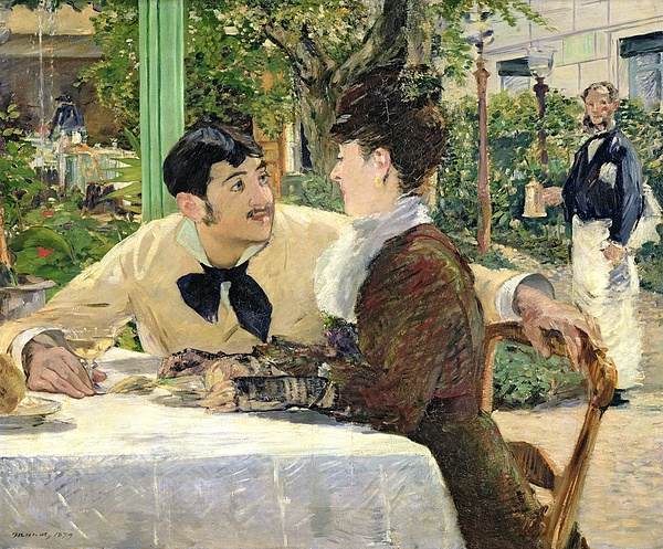 The Painting - The Garden Of Pere Lathuille by Edouard Manet