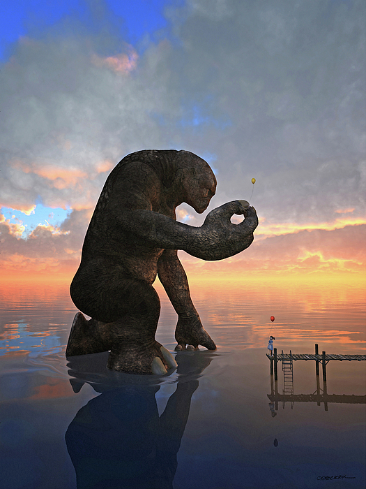 Monster Digital Art - The Gift by Cynthia Decker