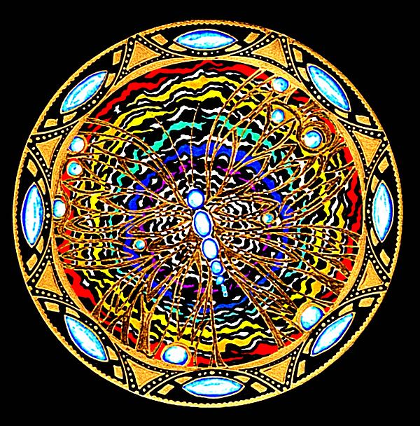 Mandala Painting - The Gift by Pam Ellis