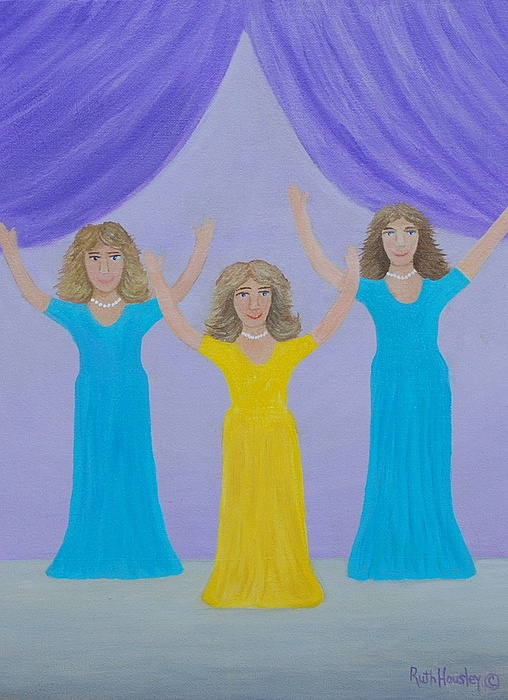 Ladies Painting - The Giving Of Praise by Ruth  Housley
