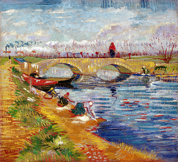 Lef221091 Painting - The Gleize Bridge Over The Vigneyret Canal  by Vincent van Gogh