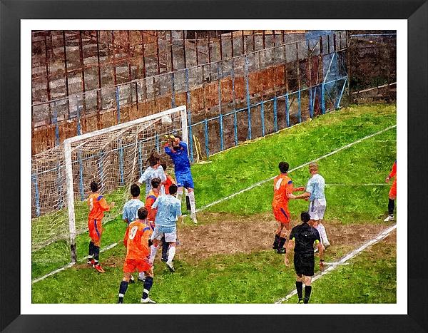 Soccer Photograph - The Goalkeeper Saves A Goal by John Vito Figorito
