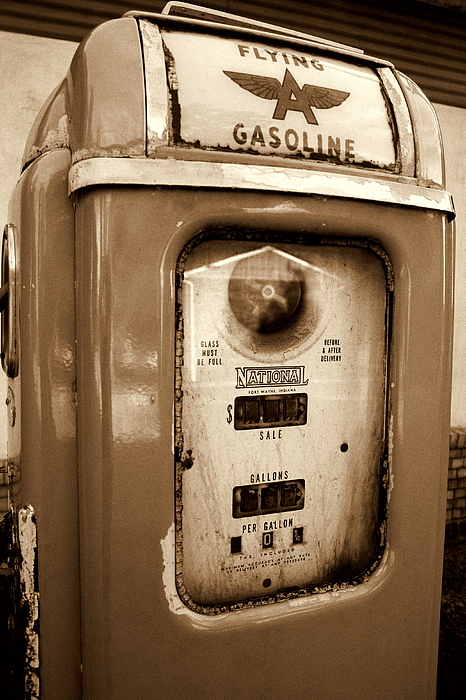 National Gas Pump Photograph - The Good Old Days by DazzleMePhotography