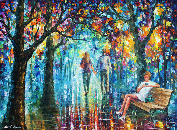 Painting Painting - The Gossip Implication  by Leonid Afremov