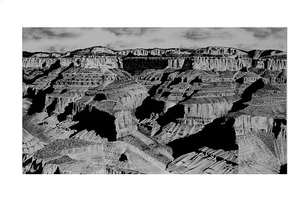 The Grand Canyon Drawing by John Bowman