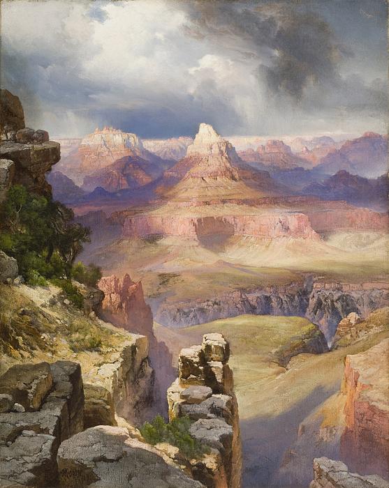 The Grand Canyon Painting - The Grand Canyon by Thomas Moran