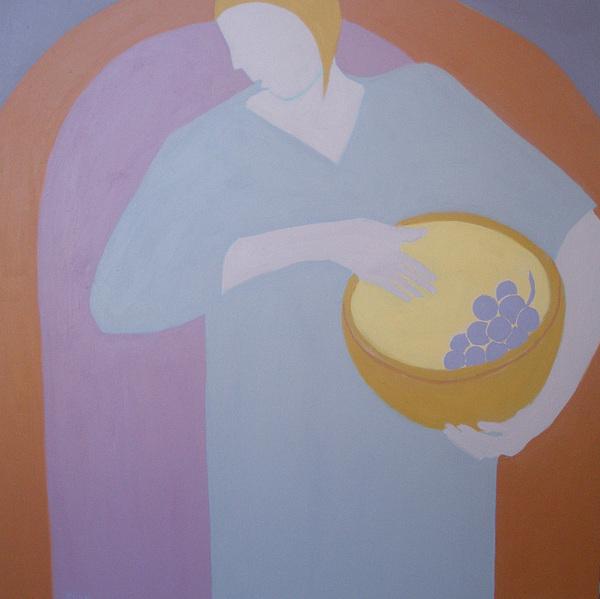 Woman Painting - The Grape Bearer by Renee Kahn