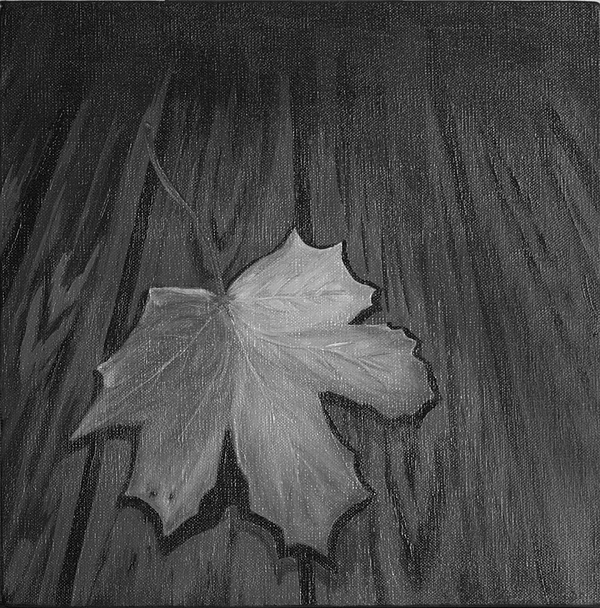 Leaf Painting - The Gray Leaf by Ninna