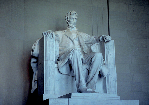 White Photograph - The Great Emancipator by Carl Purcell