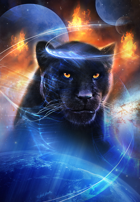 Panther Painting - The Great Feline by Philip Straub