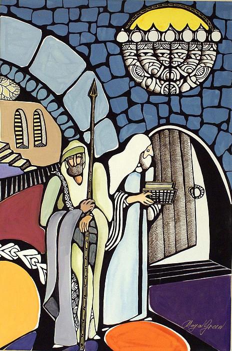 The Great Synagogue Of Jerusalem  Painting by Maya Green