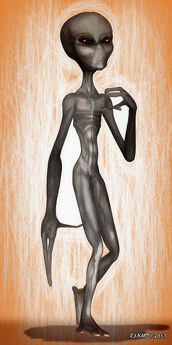 Grey Digital Art - The Grey  by Ken Morris