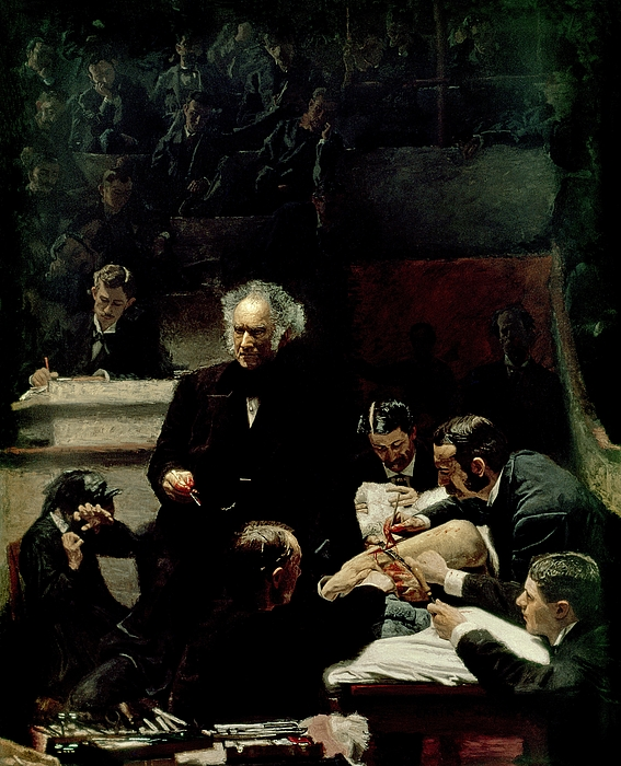 The Gross Clinic Painting - The Gross Clinic by Thomas Cowperthwait Eakins