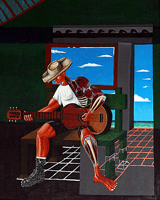 The Guitar Player Painting by Carlos Osorio