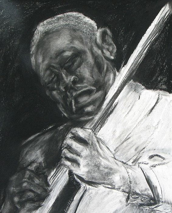Man Playing Guitar Drawing - The Guitar Player by Patrick Mills