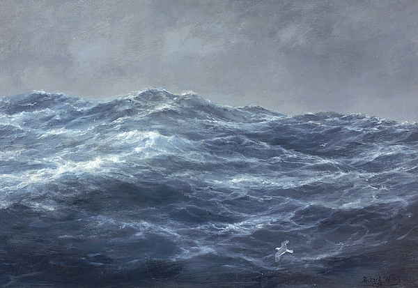 Sea Painting - The Gulls Way by Richard Willis
