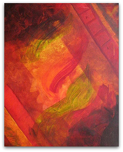 Abstract Painting - The Heat Within I by Catherine Emile