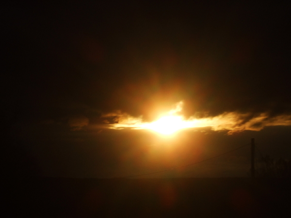 Sun Photograph - The Heaven On Fire by Ali Dover