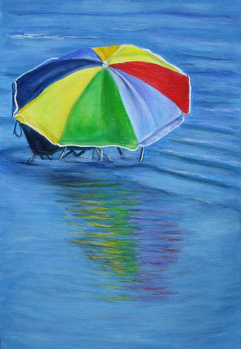 Umbrella Painting - The Hideaway by Cathi Doherty