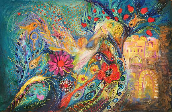 Original Painting - The Hills Of Jaffo by Elena Kotliarker