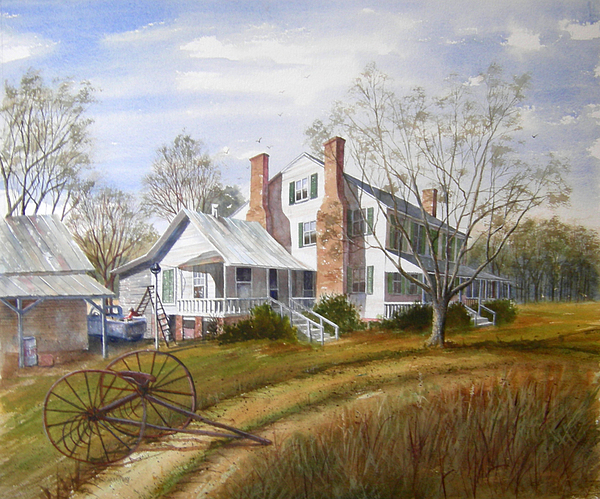 Landscape Painting - The Homestead by Pat Aube Gray