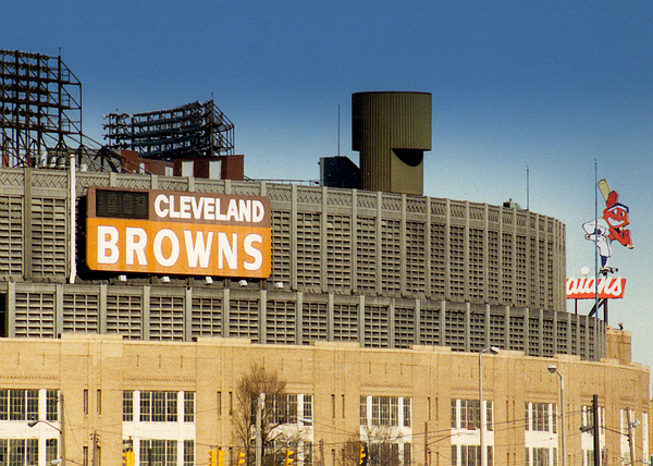 Cleveland Photograph - The Hometeams In Color by Kenneth Krolikowski