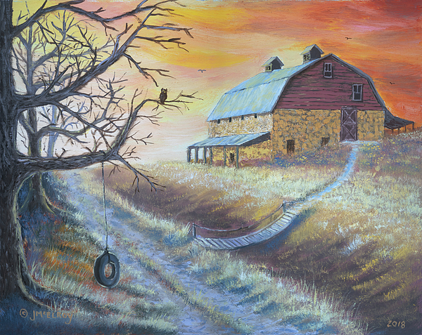 Hott Painting - The Hott Ranch by Jerry McElroy
