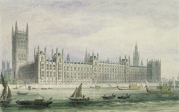 Xyc228384 Photograph - The Houses Of Parliament by Thomas Hosmer Shepherd