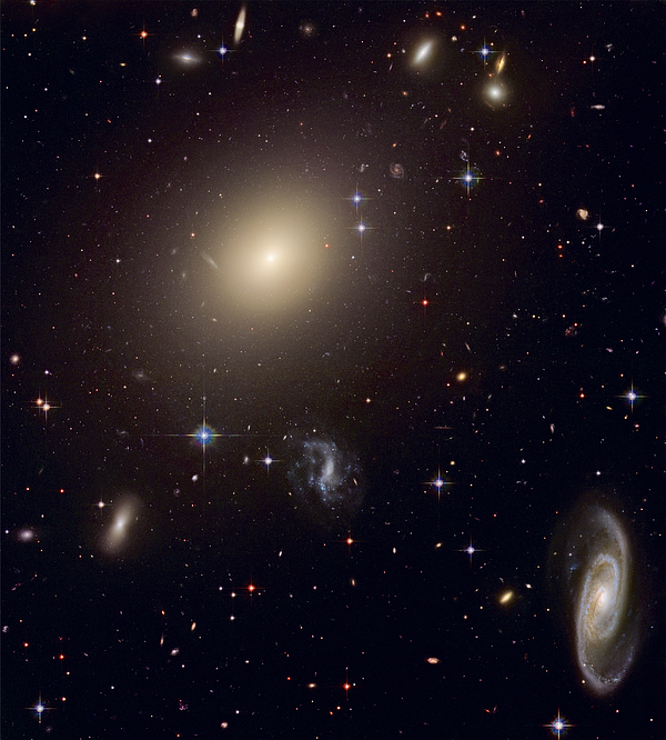 Galaxy Photograph - The Hubble Space Telescope Reveals An by ESA and nASA